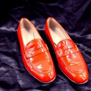 Poppy colored J.Crew loafers